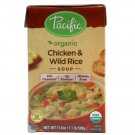 Pacific Foods Organic Chicken and Wild Rice Soup 17 oz soup dinner food meal Gluten Free snacks