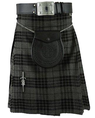 Men's 52 Size Scottish Granite Gray Watch Tartan Highland Active Men Traditional Prime Sports Kilts