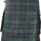 34 Inches Size Scottish Highland Wears Active Men Modern Pocket Blackwatch Tartan Prime Kilts