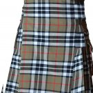 32 Size Scottish Highlander Active Men Modern Pocket Camel Thompson Tartan Kilts