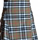 46 Size Scottish Highlander Active Men Modern Pocket Camel Thompson Tartan Kilts