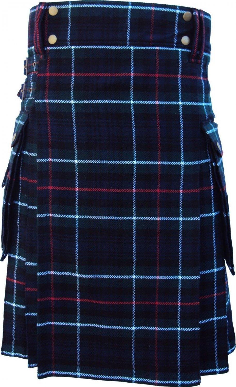 50 Size Active Men Mackenzie Tartan Modern Pockets Prime Utility Kilt