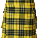 32 Size Active Men Mcleod of Lewis Tartan Modern Pockets Utility Tartan Kilt