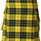 56 Size Active Men Mcleod of Lewis Tartan Modern Pockets Utility Tartan Kilt