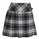 42 Size New Ladies Dress Gordon Tartan Scottish Mini Billie Kilt Mod Skirt