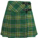 34 Size New Ladies Irish National Tartan Scottish Mini Billie Kilt Mod Skirt