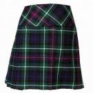40 Size New Ladies Mackenzie Tartan Scottish Mini Billie Kilt Mod Skirt