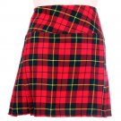 28 Size New Ladies Wallace Tartan Scottish Mini Billie Kilt Mod Skirt