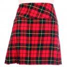 32 Size New Ladies Wallace Tartan Scottish Mini Billie Kilt Mod Skirt