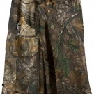 "30"" Taichi Men's TDK Tactical Kilt REAL TREE Camo, OUTDOOR Camping Cotton Utility Kilt"