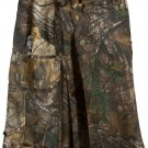 "36"" Taichi Men's TDK Tactical Kilt REAL TREE Camo, OUTDOOR Camping Cotton Utility Kilt"