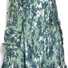 48 Size Taichi US Army CAMO Scottish Kilt, 100% Cotton Utility Kilt Highland Adult Unisex kilt