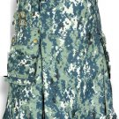 54 Size Taichi US Army CAMO Scottish Kilt, 100% Cotton Utility Kilt Highland Adult Unisex kilt