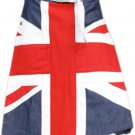 "54"" Waist UK Flag Hybrid Utility Kilt United Kingdom Flag Kilt with Custom Pattern"