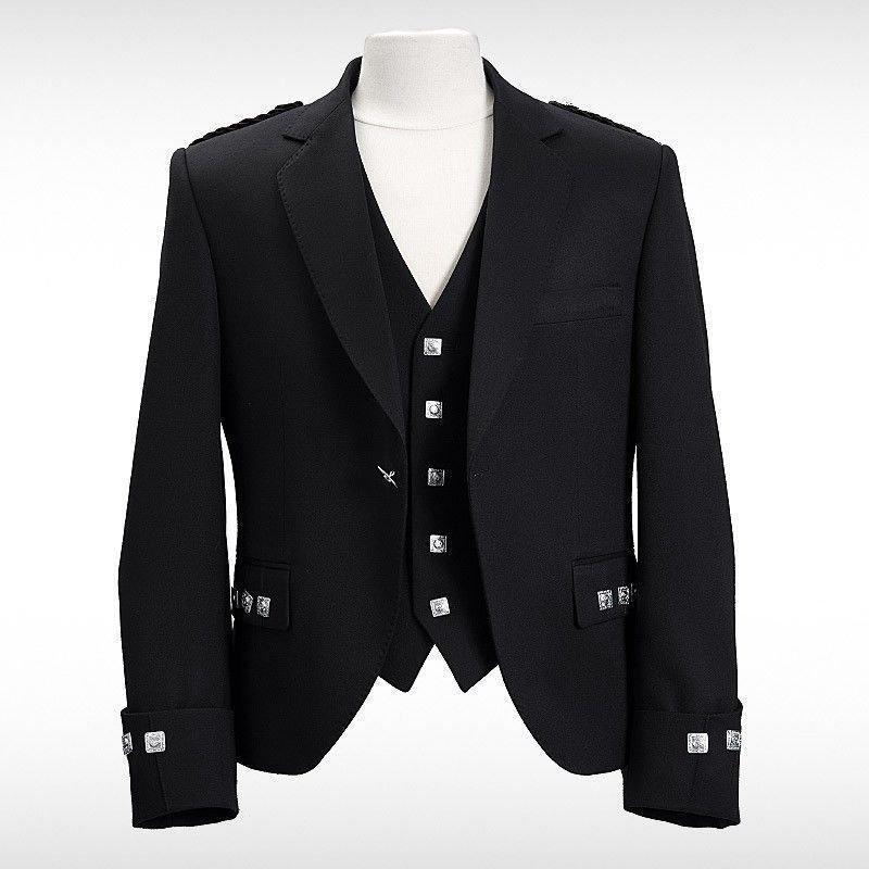 New Handmade Scottish Argyle kilt Jacket &Waistcoat/Vest