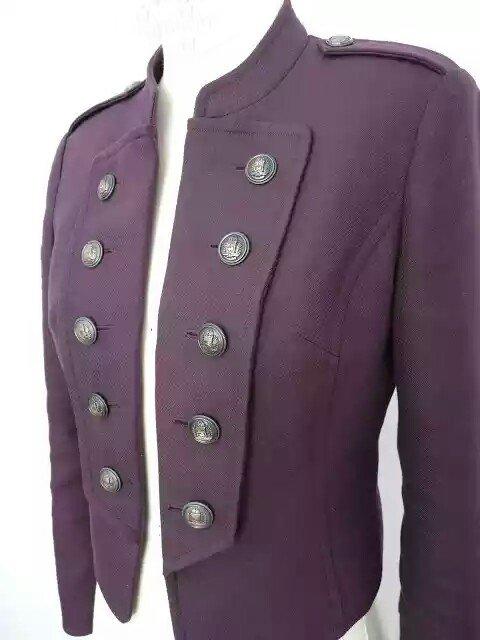 Ladies Military Jacket In Cotton Twill, Handmade Ladies Twill Jacket