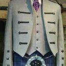 New Custom Made Kyle Jacket with 5 button waistcoat in shadow grey Jacket & Waistcoat