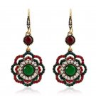 Bohemia hollow flower earrings female folk style earrings and Earrings