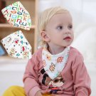 Independent packing baby sling double cotton anti slobber children snap triangle towel slobber