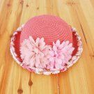 New children's straw hats, girls lace big lace, small basin hat, sun visor, straw hat, Beach Hat