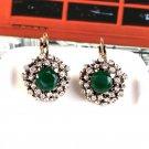 European and American fashion retro Round Diamond Earrings Ear Hook Earrings
