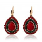 Imitated RUBY EARRINGS Europe retro Earrings Bohemia folk style earrings