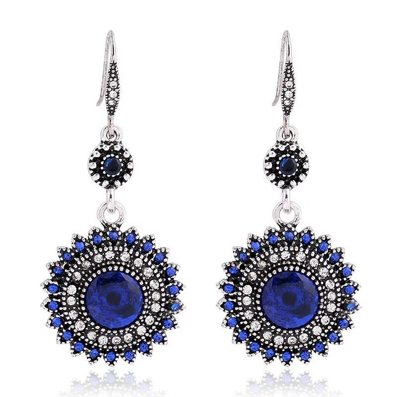 The new Europe Bohemia folk style retro earrings Sun Flower Earrings