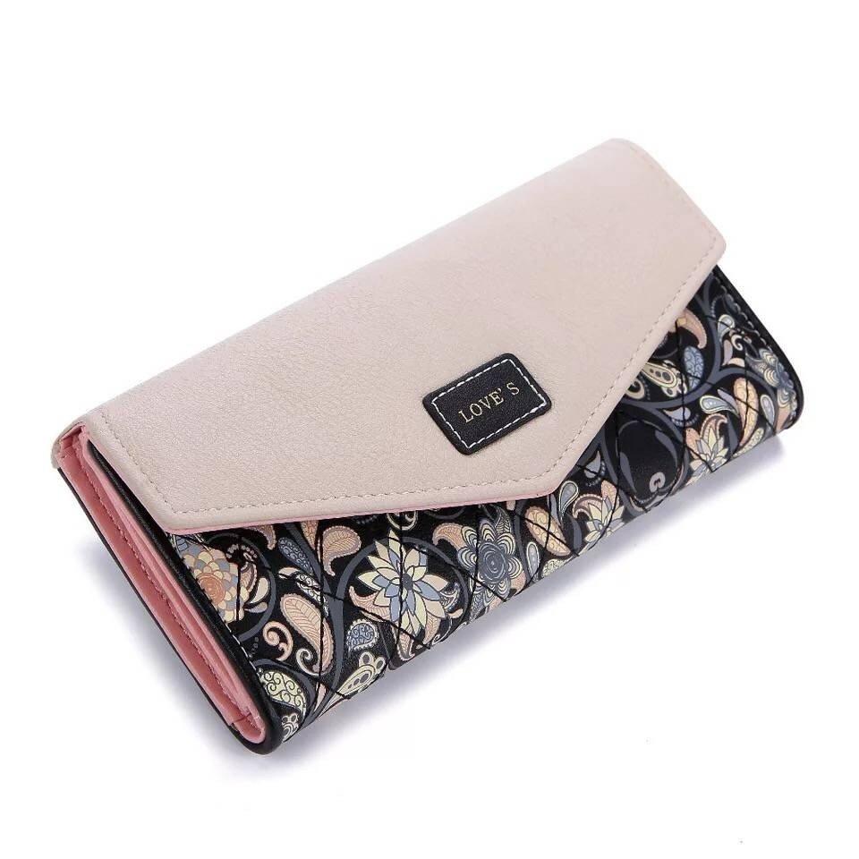 Pastoral style long seventy percent off ladies hand bag ,A rhombus color wallet, a hasp Purse