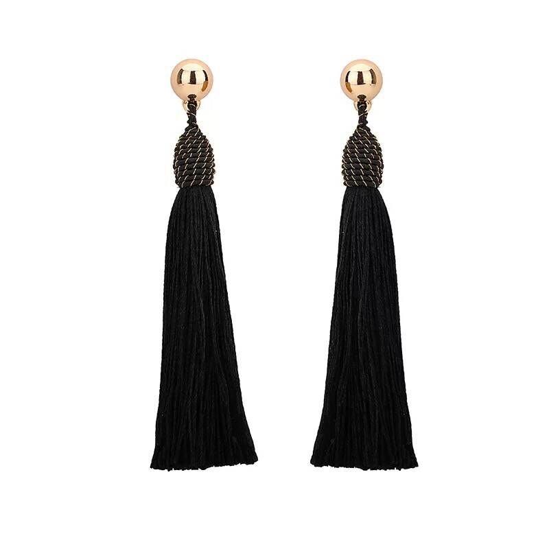 2017 new long fringe earrings earrings and exaggerated cool Ms. Bohemia wind Earrings