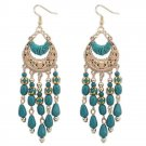 New crescent metal pierced Bohemia Tassel Earrings