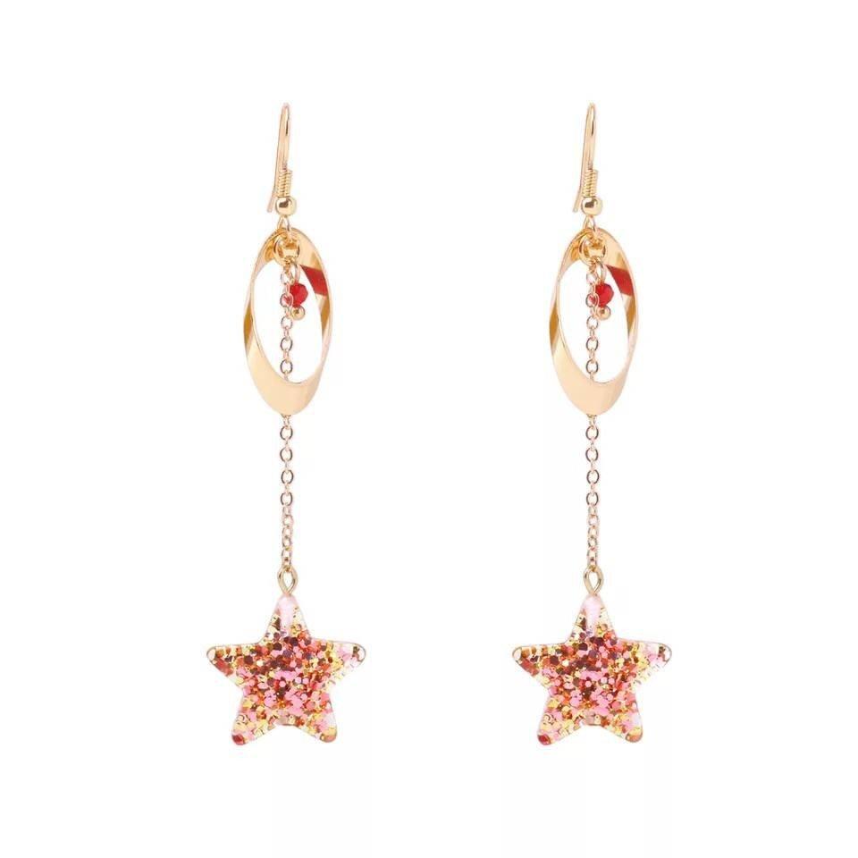 2017 new Star Long Pendant Earrings Jewelry ladies