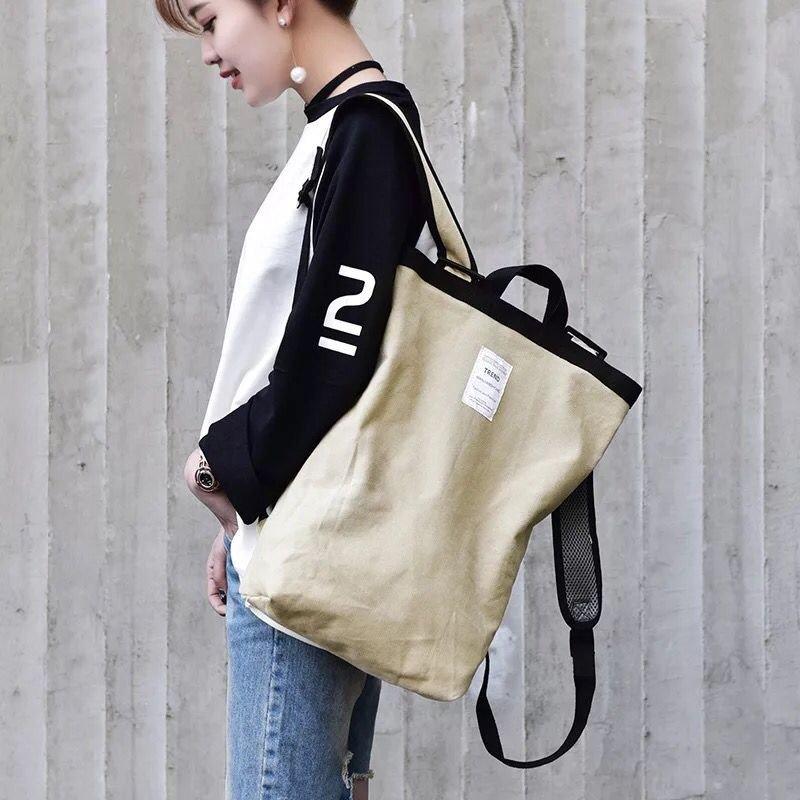 Canvas Backpack Bag, student bag backpack wind tide bag