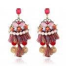 Retro Bohemia handmade tassels, gold coins, earrings, jewelry