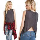 Summer lady - back down vest loose sleeveless coat color