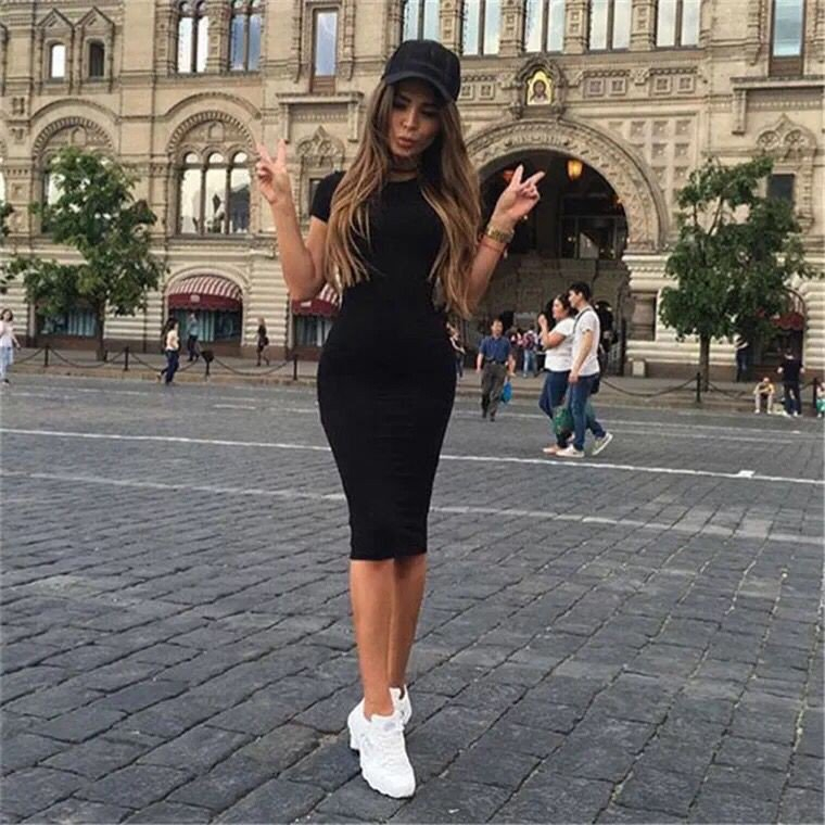 Fashionable new hot sale pack buttock single piece dress One-piece dress