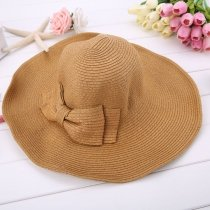 Summer Elegant Big Hat (Tan Colored)