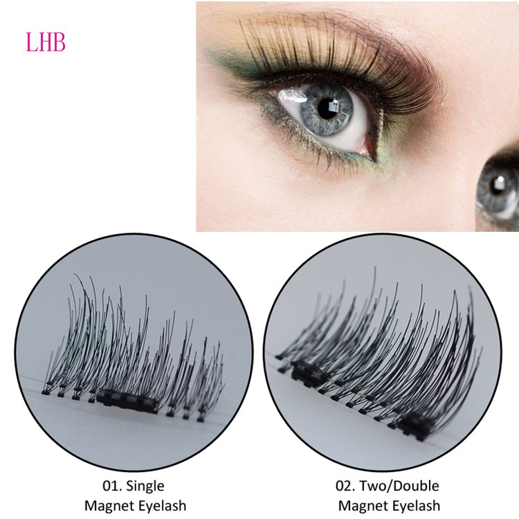 High Quality Lighter&Softer Magnetic False Eyelashes Private Label Without Glue