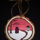 Primitive Rustic Wood Ornament OOAK (EC006)