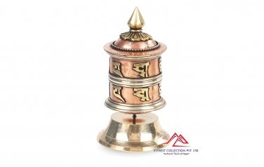 "4"" Table TOP Tibetan Spritual Prayer Wheel ""Om Mani Padme Hum"" Hand Crafted in Nepal"