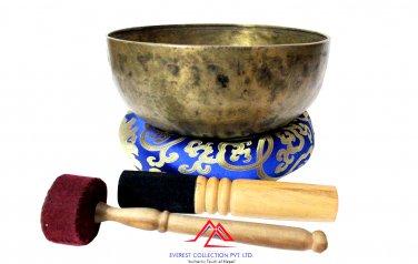 10 inches Tibetan Meditation Singing Bowl-Hand Hammered-Root chakra-Yoga Bowl