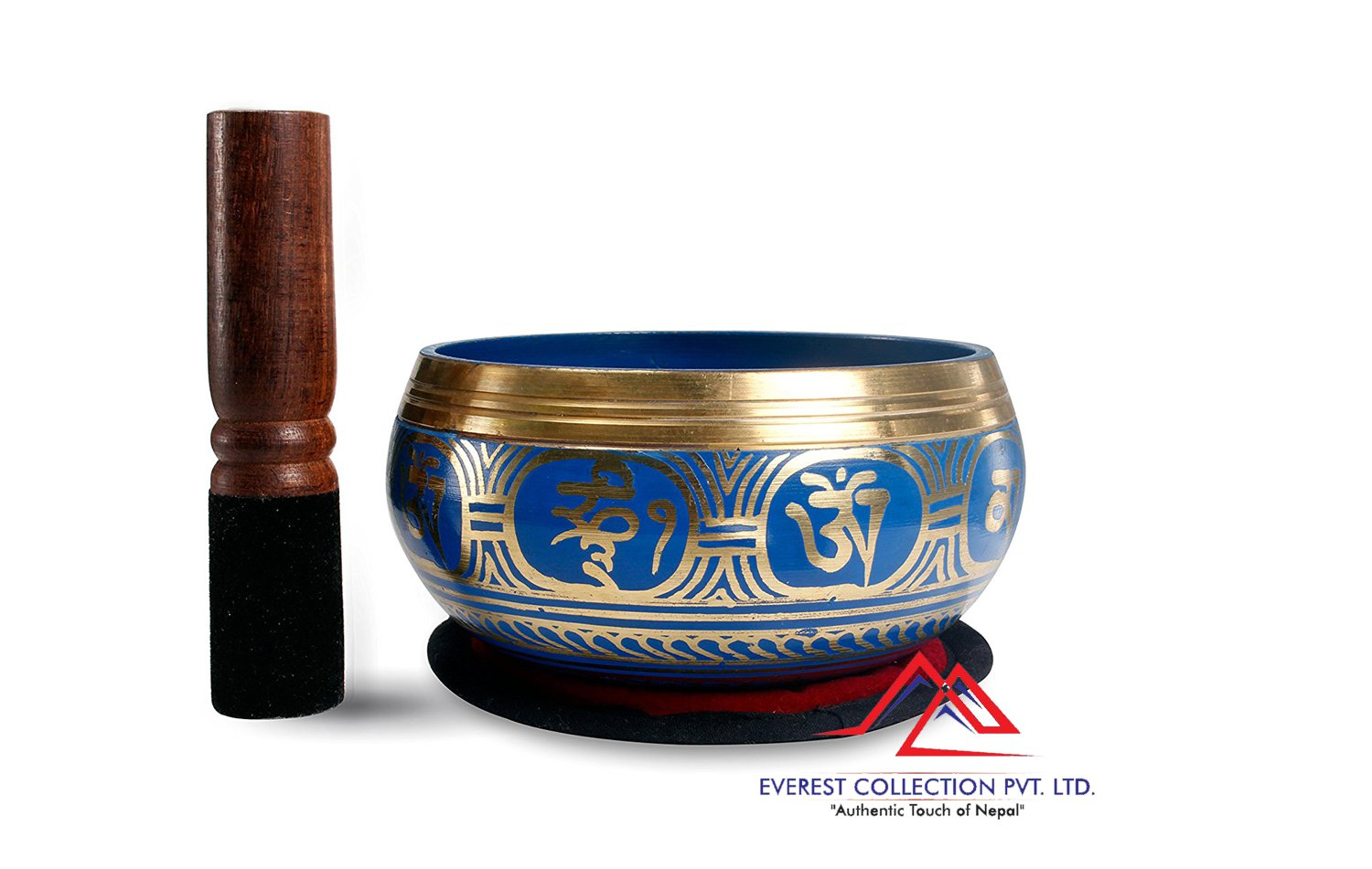 "5""Tibetan Buddhist Singing-Color singing bowl, om mani padme hum mantra"