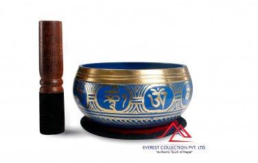 "5""Tibetan Buddhist Singing-Color singing bowl, om mani padme hum mantra"