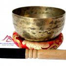 Hand Hammered Tibetan Meditation Singing Bowl 6 Inches - Thadobati signign bowl