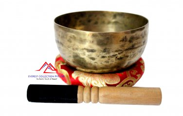 Hand Hammered Tibetan Meditation Singing Bowl 6 Inches - Thadobati signign bowl