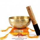 "5""Handmade singing bowl-D chakra, meditation bowl, healing bowl,yoga, handmade in Nepal"