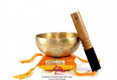 "5""Handmade singing bowl-D chakra, meditation bowl, healing bowl,yoga, handmade in Nepal"