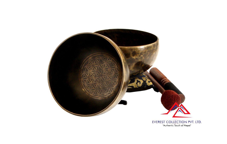 "7""Flower of life singing bowl-Meditation bowl-Healing singing bowl,Sinigng bowl from Nepal"