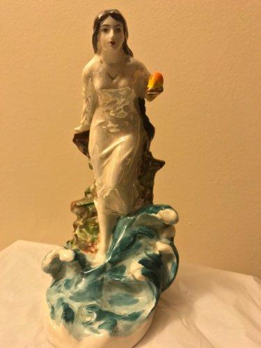 Antique Armenian Faience figurine of princess Tamara (Akhtamar)