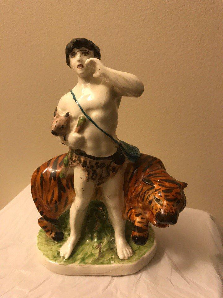 Antique Armenian Faince figurine of David of Sasun