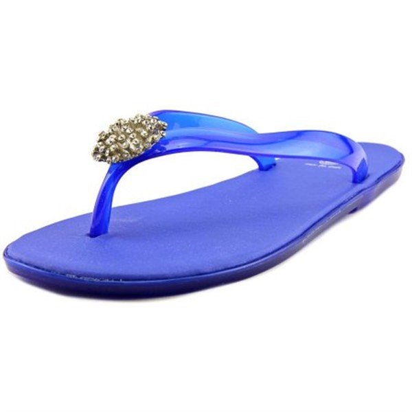 Size 7 DIZZY Blue Dory with Toe Embellishment Jelly Style Flip Flops Sandal MSRP $30